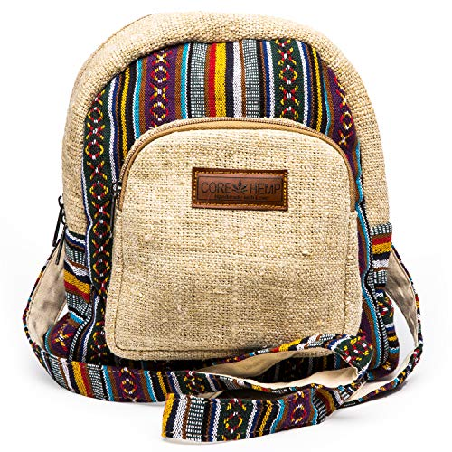 Core Hemp Mini Backpack Boho Hippy Bag(Color) ()