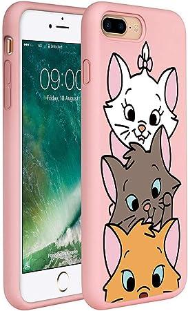 ZhuoFan Cover iPhone 7 Plus /8 Plus, Custodia Cover Silicone Rosa con Disegni Ultra Slim TPU Morbido Antiurto 3d Cartoon Bumper Case Protettiva per ...