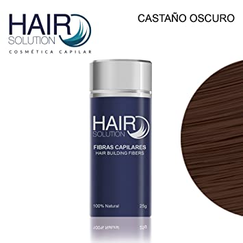 Fibras Capilares Hair Solution Castaño Oscuro 25g