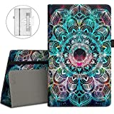 VORI Case for Fire HD 10 (7th/5th Generation,2017/2015 Release), Folio Folding Smart Stand Cover with Hand Strap and Auto Wake/Sleep for All-New Amazon Fire HD 10.1 Inch Tablet, Mandala