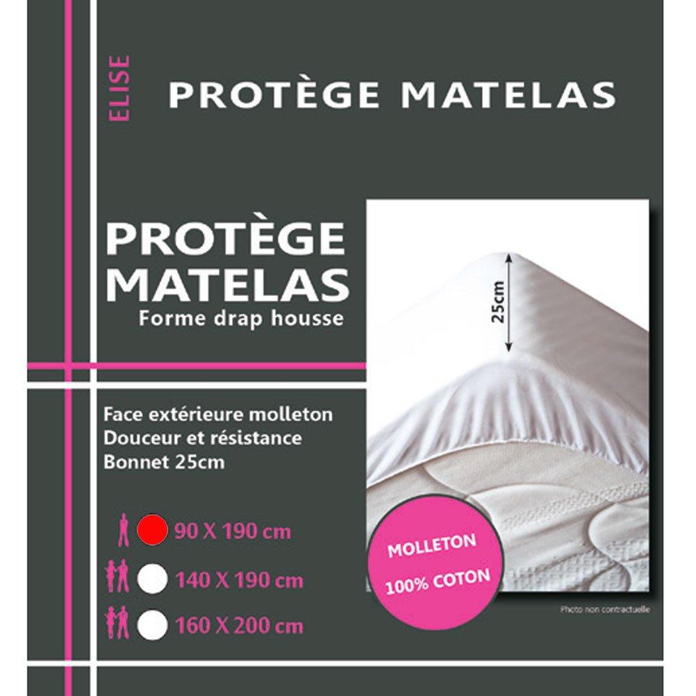 Molleton LOVELY CASA Prot/ège Matelas Hypoallergenic Coton 190x90x10 cm