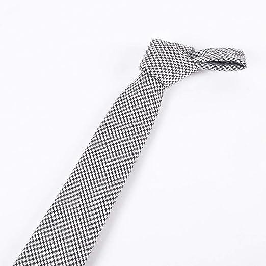 Littlefairy Hombre Designer Corbata,Corbata de Pata de Gallo ...