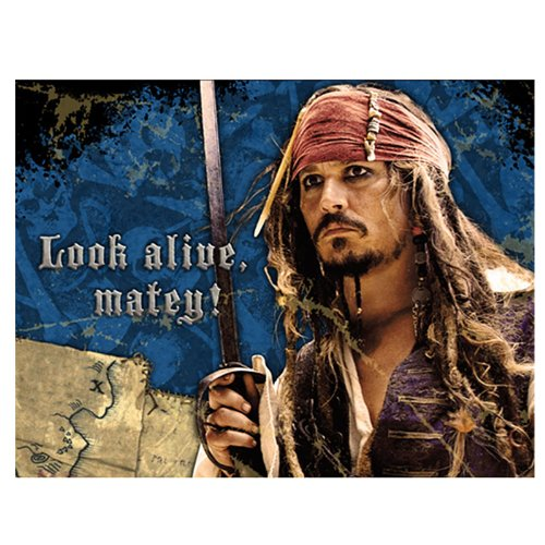 [Pirates of the Caribbean Party Invitations 8 count] (Pirate Partyware)