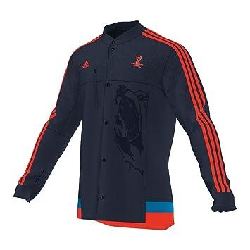 b1e239221ced adidas Men s UEFA Champions League Anthem Jacket dunkelblau neonrot  Size XXL - 62  Amazon.co.uk  Sports   Outdoors