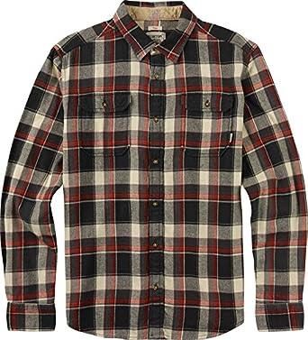 Burton Camisa MB Brighton Long Sleeve WVN, Hombre, Hemd MB Brighton Long Sleeve WVN, True Black Impulse, S: Amazon.es: Ropa y accesorios