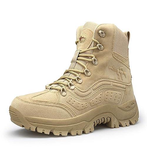 Suetar Resistenti all Usura per Gli Uomini e Scarpe da Trekking Militari in  Pelle Scamosciata 73126e98985