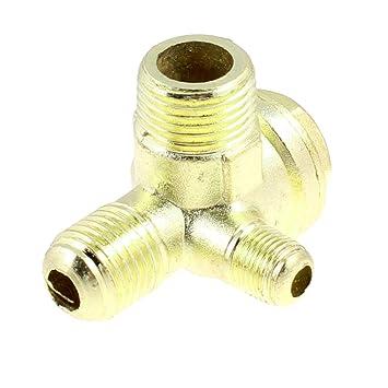 0,32 cm 0,64 cm 0,95 cm de rosca macho para compresor de aire latón válvula de retención tono de oro: Amazon.es: Bricolaje y herramientas