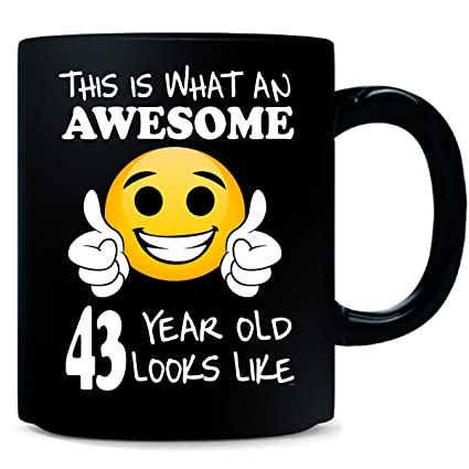 Emoji Birthday 43rd Presents Men 43 Year Old Gift