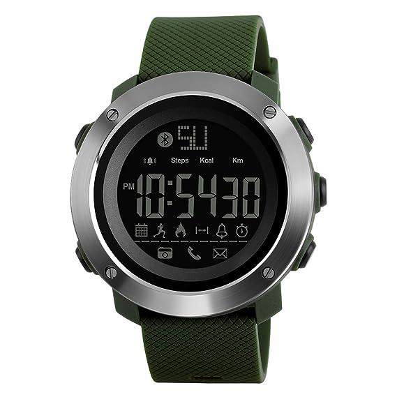 Reloj Deportivo Contador de calorías podómetro Reloj Digital Bluetooth Fitness Relojes Militares táctico para Hombres Mujeres