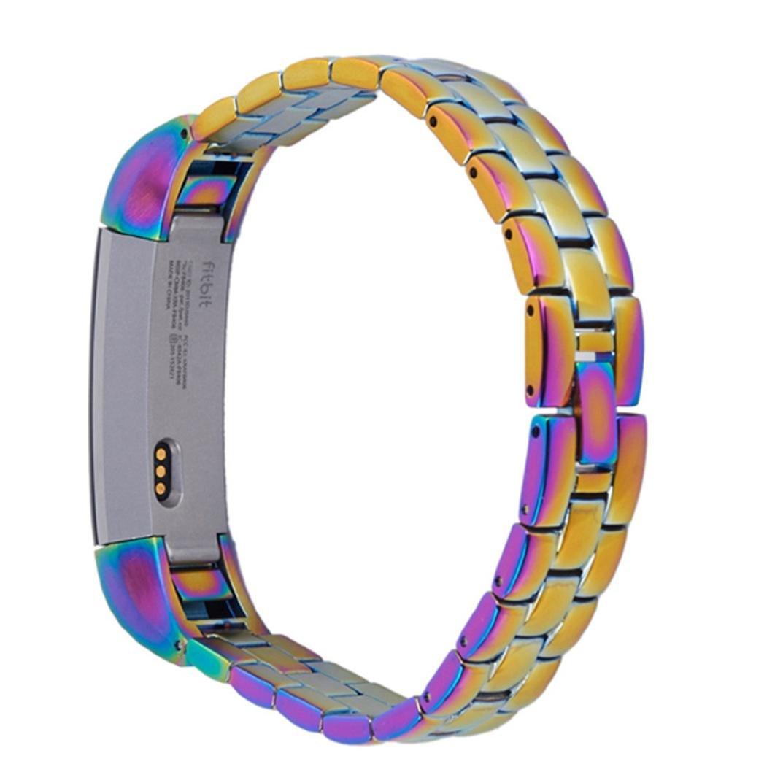 hunputaラグジュアリーメタルステンレススチール時計バンドストラップfor Fitbit ALTA B01LY7ZWNW マルチカラー