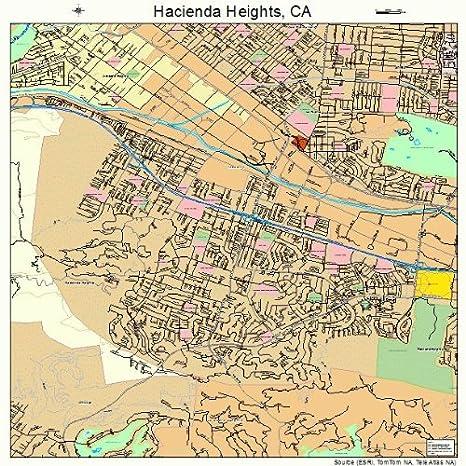 Amazon Com Large Street Road Map Of Hacienda Heights California