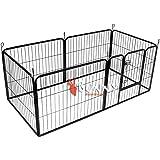BUNNY BUSINESS Heavy Duty 6 Pannello Puppy Gioca custodia / Coniglio Penna, Medio, Grigio Gunmetal