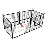 Bunny Business resistente 6Panel cachorro play bolígrafo/conejo almacenaje, pequeño, color gris