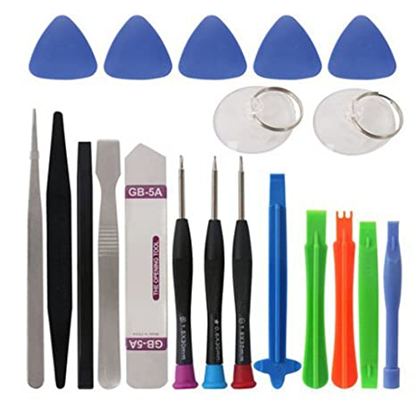 9cd6ce85bab Mengonee 20 en 1 Juego de destornilladores teléfono celular spudger  Reparación Bar Kit de herramientas para
