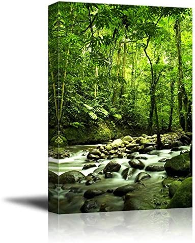 Beautiful Scenery Landscape Green Forest and River Home Deoration Wall Decor