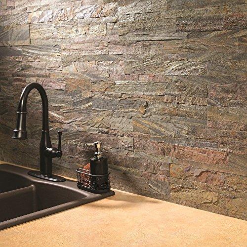 "Aspect Peel and Stick Stone Overlay Kitchen Backsplash - Weathered Quartz (5.9"" x 23.6"" x 1/8"" Panel - approx. 1 sq ft) - Easy DIY Tile Backsplash hot sale 2017"