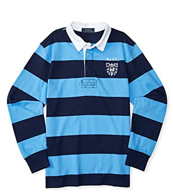 834cdecac90 Ralph Lauren Boys Striped Cotton Jersey Rugby (2/2T, RIVIERA BLUE MULTI)