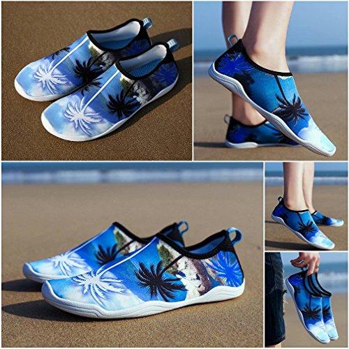 Rapid Bleu Séchage Imprimé Chausson Cocotier Respirant Sport Bigood Chaussure D'eau W7OzndU0q