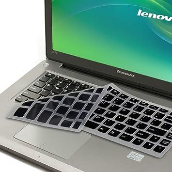 GMYLE Black Silicon Keyboard Cover for Lenovo IdeaPad U300 U300s U310 U400 U410 U430 U430p Z400 P400 S300 S400 S405 YOGA 13-IFI, Yoga 2 Pro, Yoga ...