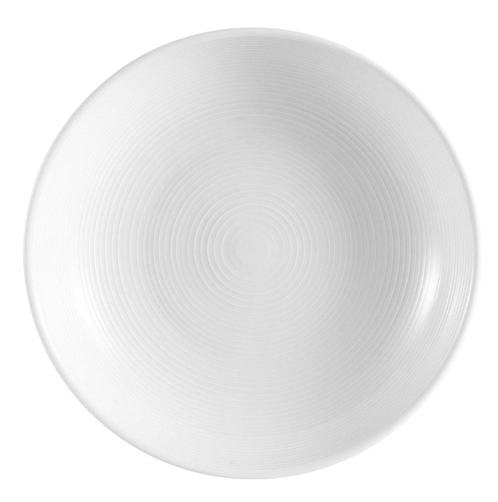 CAC China HMY-82 9-1/2-Inch Harmony Porcelain Pasta/Salad Bowl, 25-Ounce, White, Box of 12