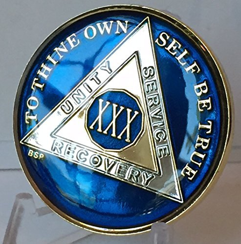 30 Year Midnight Blue AA Medallion Chip Tri Plate Gold for sale  Delivered anywhere in USA
