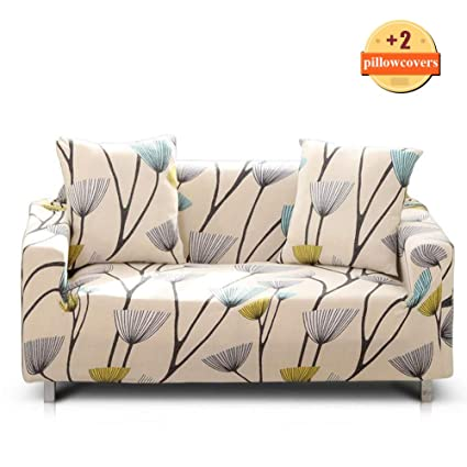 Brilliant Ihoming Printed Stretch Sofa Slipcover Loveseat Slipcover Couch Slipcover With 2 Free Pillow Covers 2 3 4 Seat Sofa Covers Sofa 3Seat Dandelion Unemploymentrelief Wooden Chair Designs For Living Room Unemploymentrelieforg