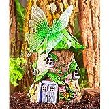 Miniature Fairy Garden SOLAR GREEN BUTTERFLY FAIRY HOUSE (NEW) - My Mini Garden Dollhouse Accessories for Outdoor or House Decor