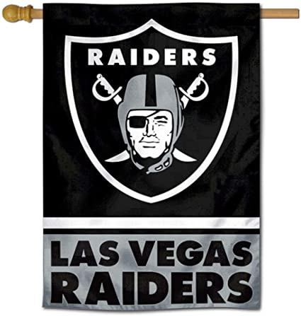 Amazon Com Wincraft Las Vegas Raiders Double Sided House Banner Flag Sports Outdoors