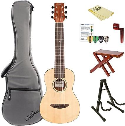 Cordoba Mini M en miniatura guitarra acústica guitarra cuerdas de nailon (con funda, soporte, y accesorios, Mini m-kit-2: Amazon.es: Instrumentos musicales