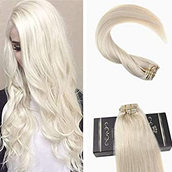 Ugeat Dream 28 inch White Blonde Hair Extensions