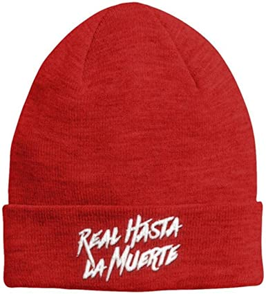 Gorros Casuales De Algodón para Hombres Mujeres Gorro De Invierno De Punto Hip-Hop Skullies Bonnet Gorra Unisex, Rojo: Amazon.es: Ropa y accesorios