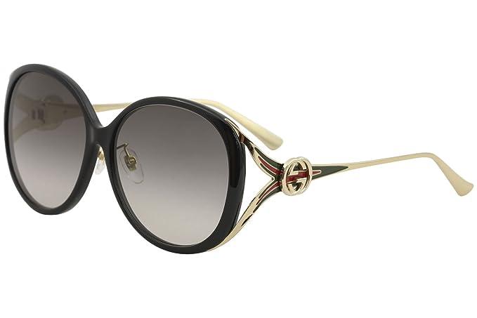 Amazon.com: Gucci GG 0226 SK- 001 negro/gris oro anteojos de ...