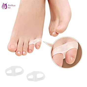 Puntera pequeña de silicona suave, 2 agujeros, ortopédica, para juanetes, dedos de