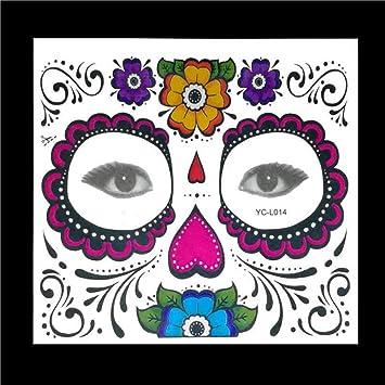 Tatuaje temporal de la cara, 10 kits de tatuajes Calavera de ...