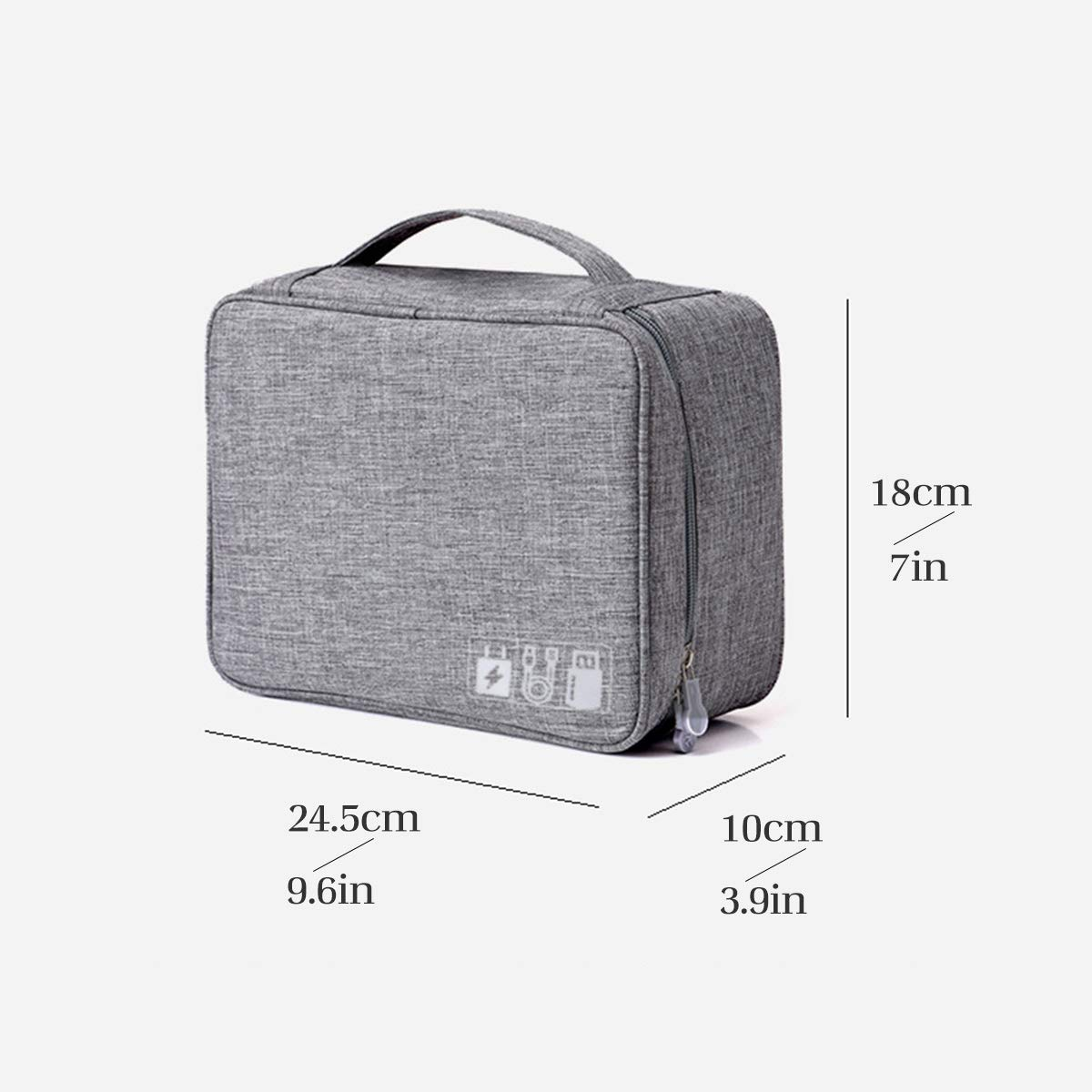 OrgaWise Accessories Bag Cable Case Electronics Organiser and Memory Card Extra Send 2 pcs Data protect sets Travel Cable Organisers for Carry Power Bank Camera
