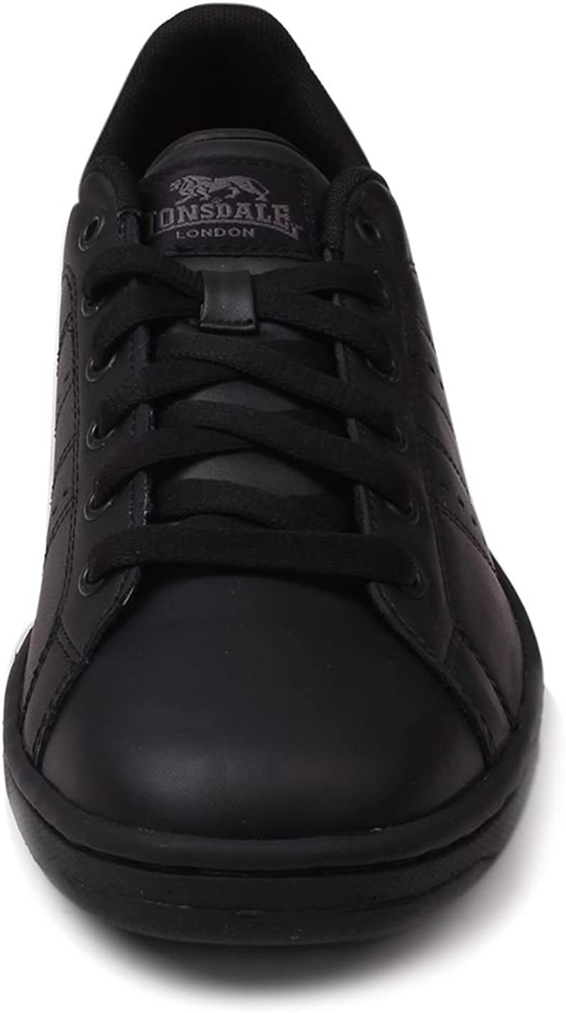 LONSDALE LEYTON LEATHER TRAINER JUNIOR SHOES SNEAKER LACE RUNNING WALKING CASUAL