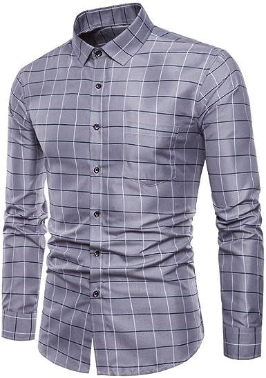Camisas Vestir Formales Hombre, Blusas Hombre, Trajes Formales para Hombres Oxford Slim Fit Camisas de Manga Larga Hombre Camisetas Tops por Venmo: Amazon.es: Ropa y accesorios