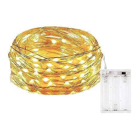 LED Dekoration Lichter Kupferdrähte Lichter Hochzeit Batterie Twinkle Licht NEU