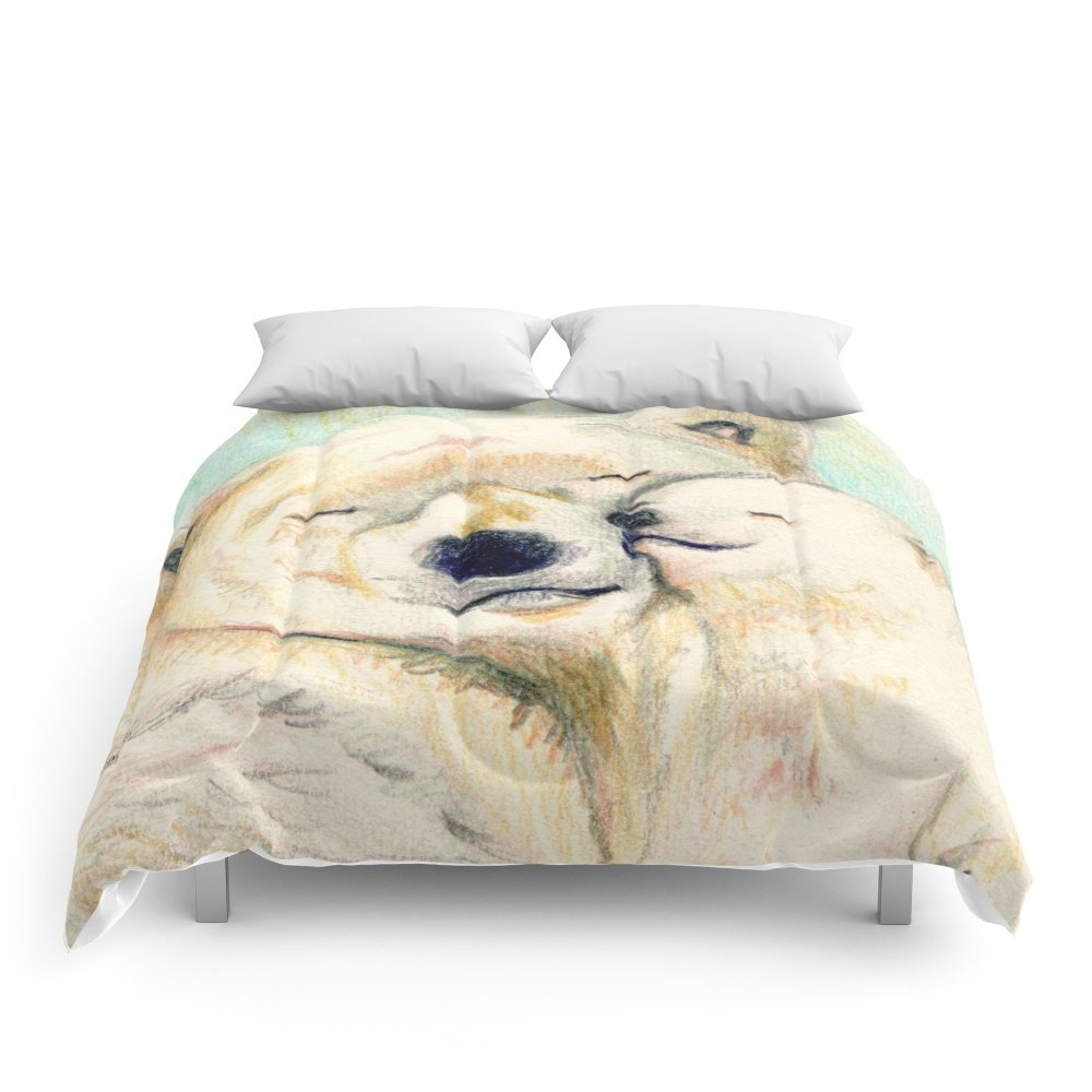 Society6 Polar Bears, Mother And Child Comforters King: 104'' x 88''