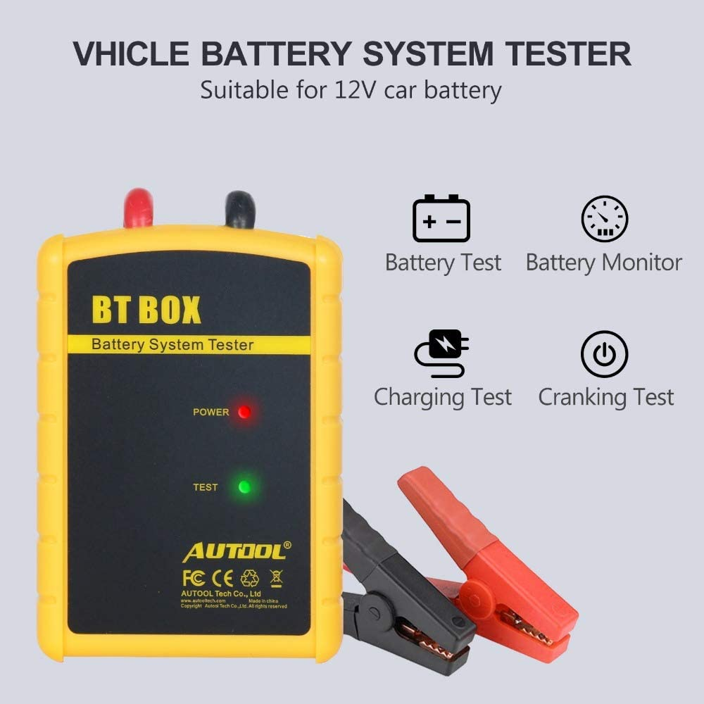 Autool Tester Batteria Auto BT Box Bluetooth Wireless nalizzatore Digitale per Android Phone iOS
