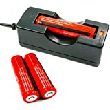 2x ConsteFire 18650 3000mAh 3.7V batterie rechargeable & Chargeur