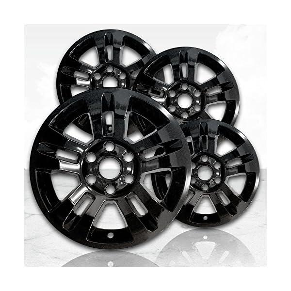 Upgrade-Your-Auto-18-Gloss-Black-Wheel-Skins-Set-of-4-for-2014-2017-Chevy-Silverado-1500-5646