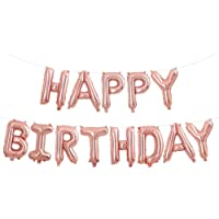 Fecedy Rose Gold Hanging Happy Birthday Balloons for party decorations