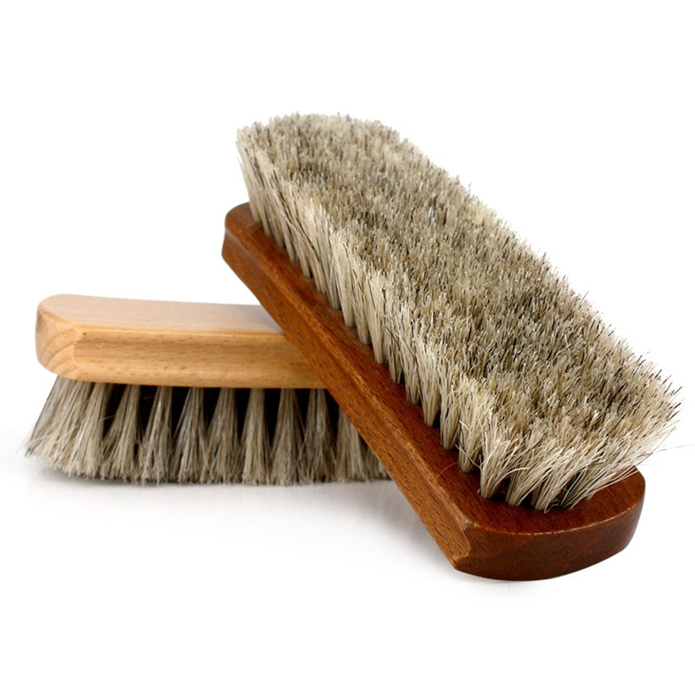 Shoe Shine Brushes MoYag Large Professional Horse Hair Brushes for Shoes, Boots & Other Leather Care by MoYag (Image #4)