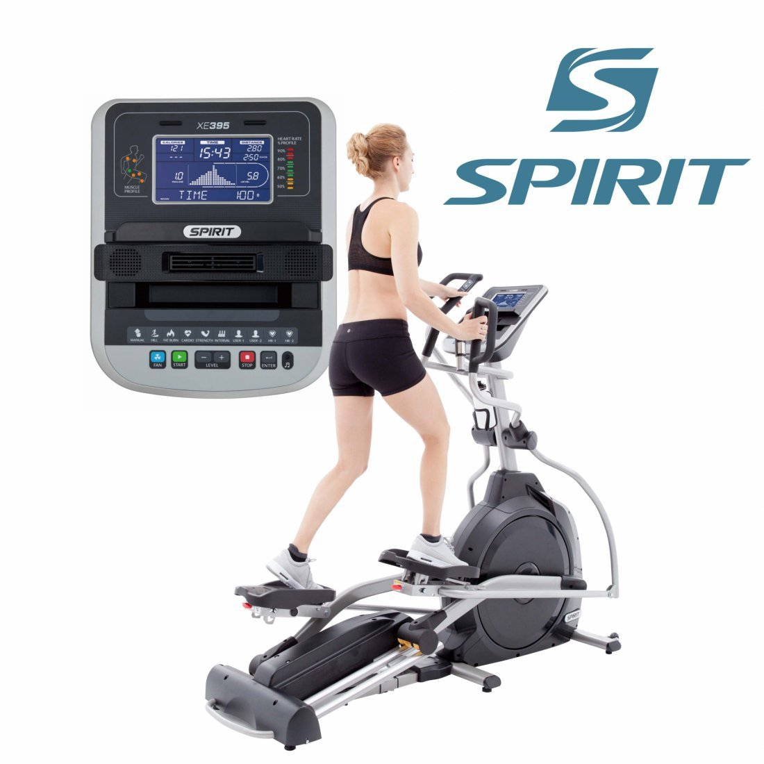 Spirit Profi Ellipsentrainer XE 395 Crosstrainer Heimtrainer ...