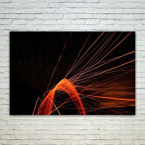 Westlake - Poster Print Wall - Light Orange - Modern Picture Photography Home Decor Office Birthday Gift - Unframed - 18x12in (od9 - Ab3 Light