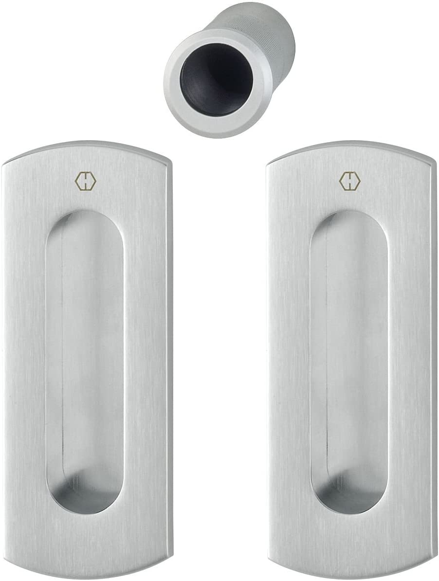 /sin cerradura cuadradas roseta WC cromado mate Hoppe 3390260/Puerta Corredera Juego M464/