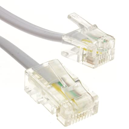 Amazon.com: Kenable RJ11 Male Plug to 4 wire RJ45 Male Plug Flat ...