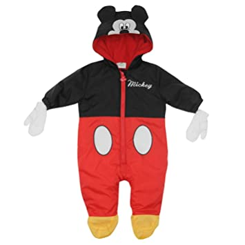 Disney Mickey Mouse Traje para cochecito de bebé y mitones para niños bebés Baby, Color