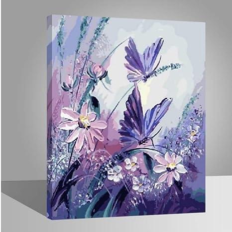 Waofe Blumen Malen Nach Zahlen Kit Wohnkultur Diy Olgemalde Auf